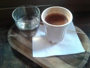 Coffee at London cafe