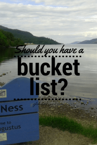 should you have a bucket list