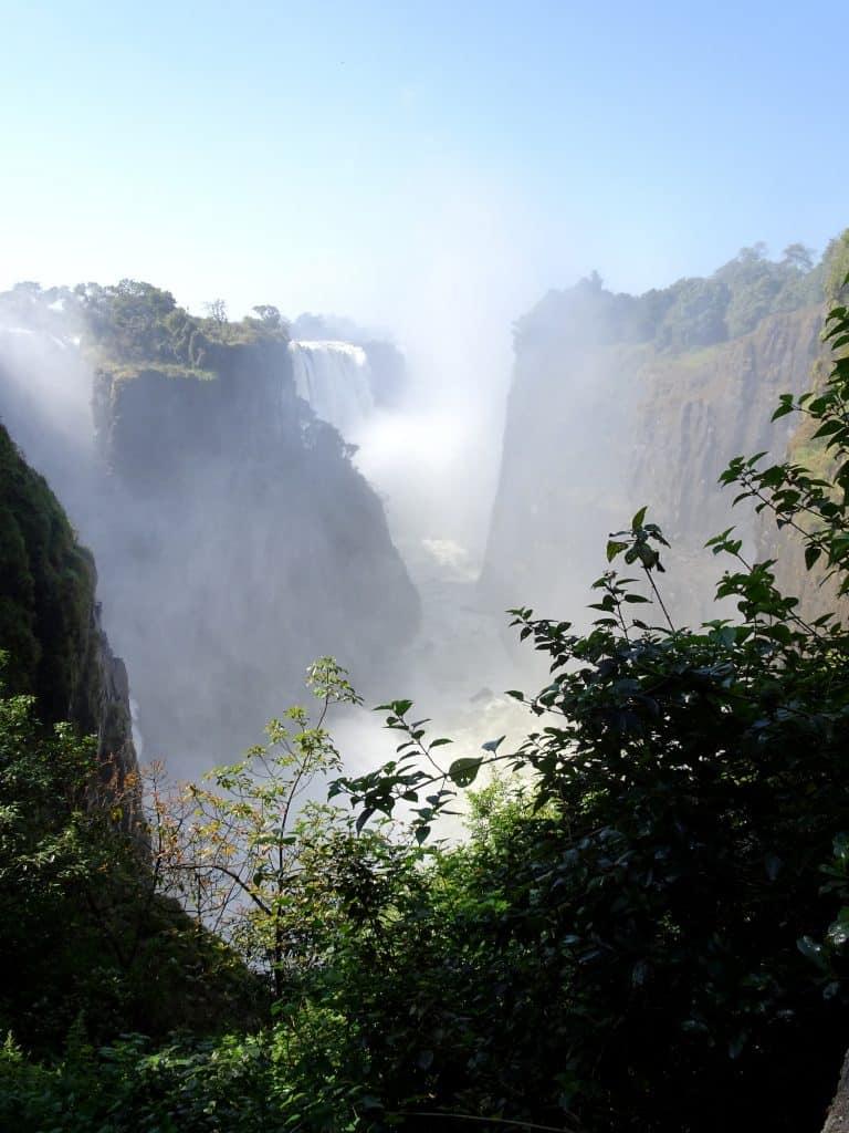 Victoria Falls from the Zambezi side
