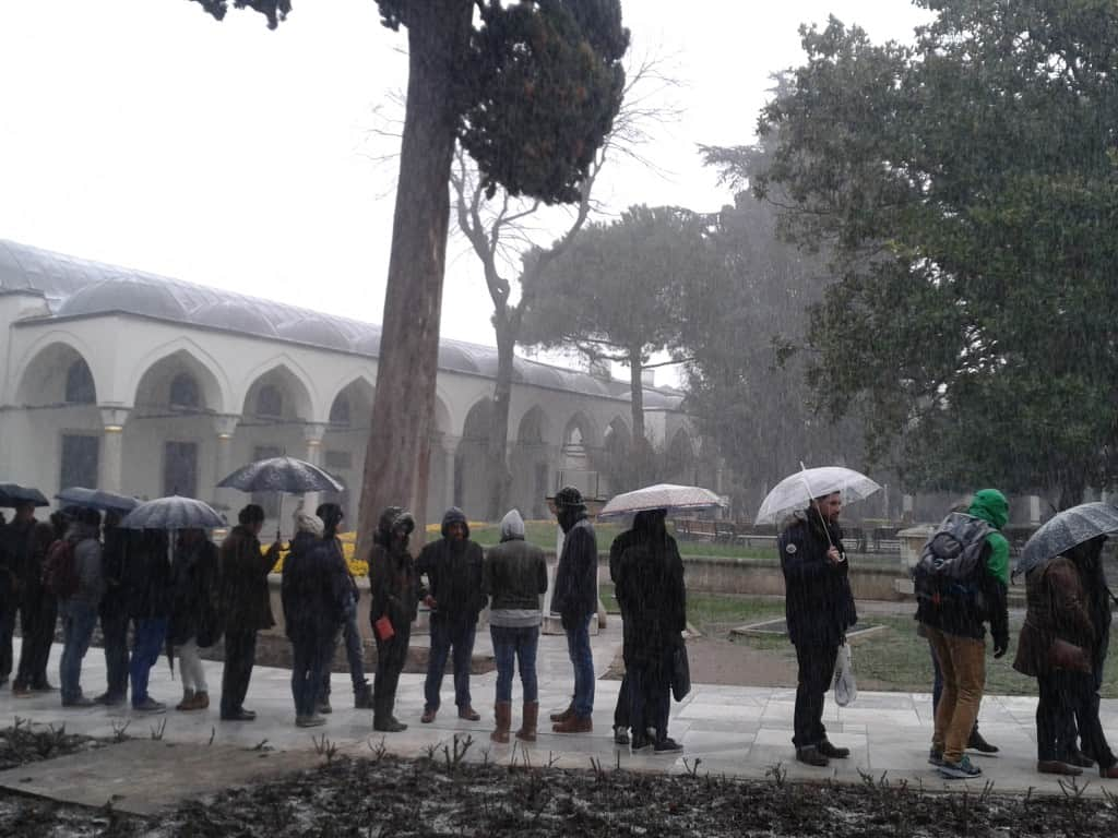 Topkapi Palace Istanbul in winter