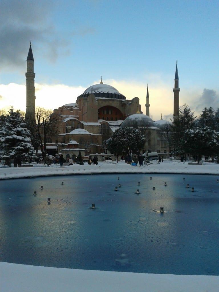 Hagia Sofia Istanbul winter