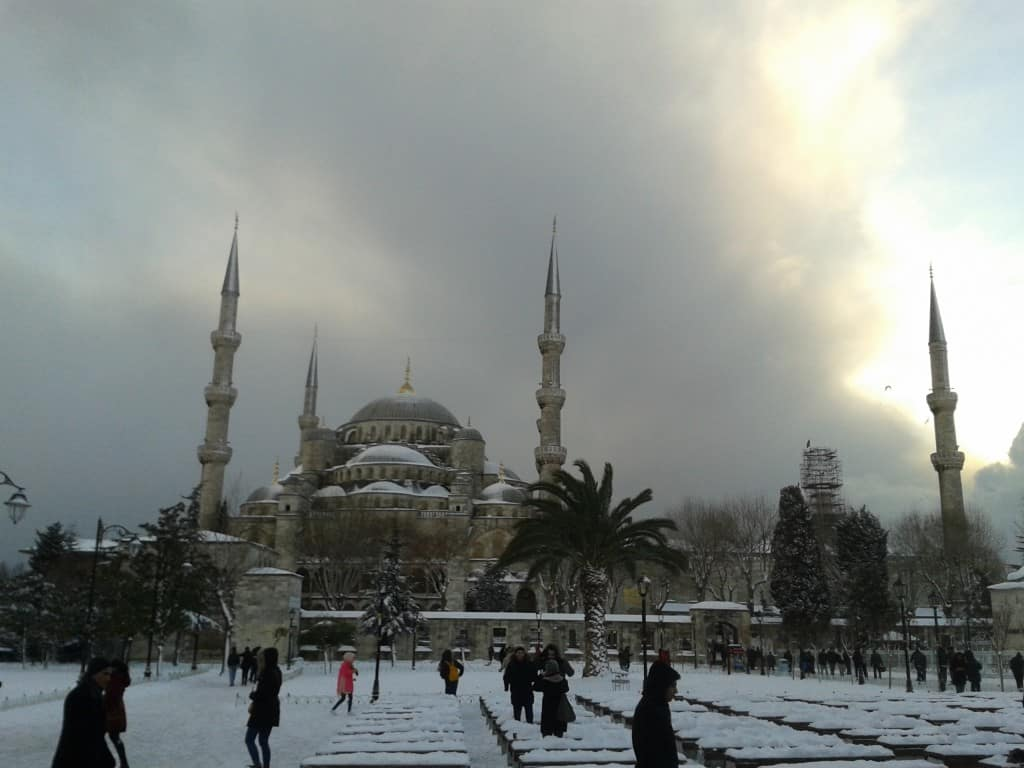 Blue Mosque Istanbul winter