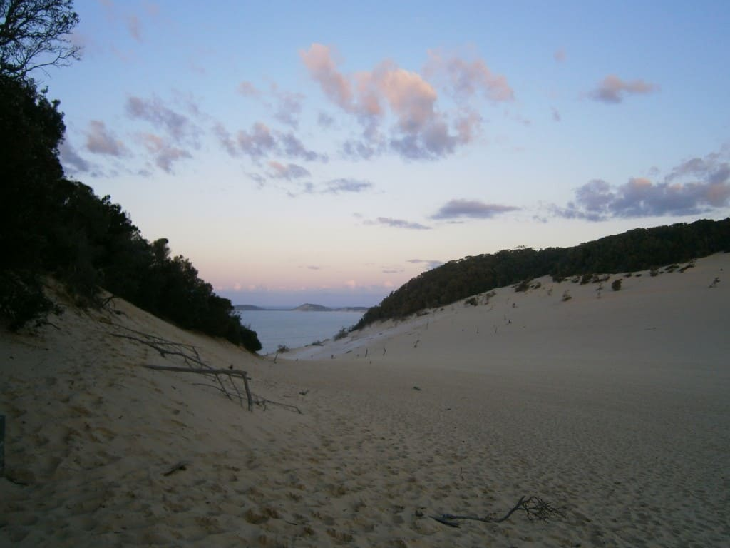 love australia - sunset over sand dunes