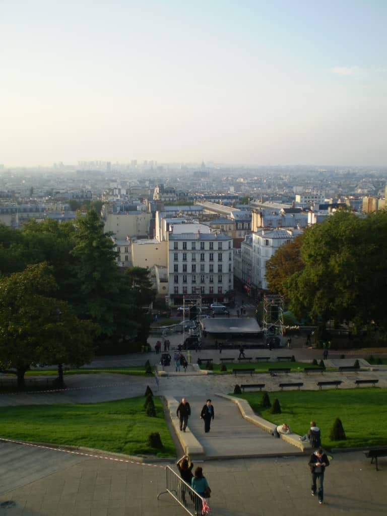 View over Paris from Sacre Coeur