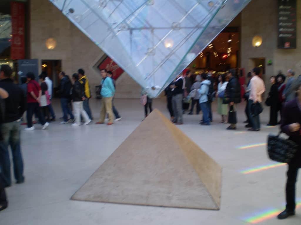 Pyramid at Louvre entrance