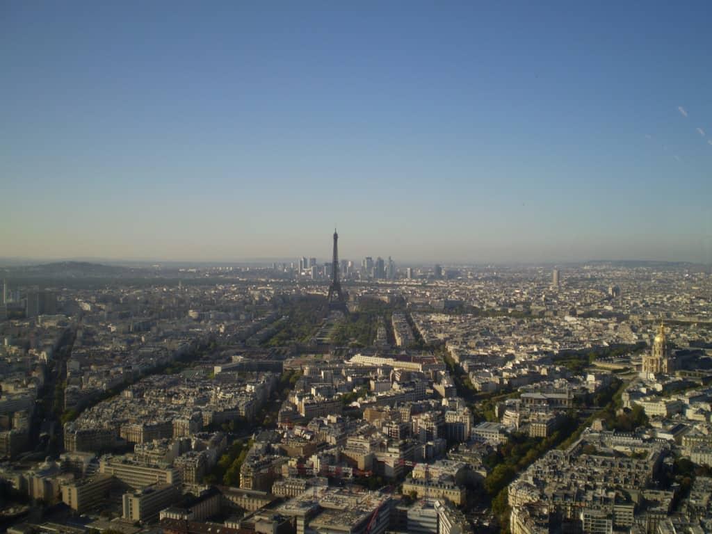 View from Tour Montparnasse, Paris, France