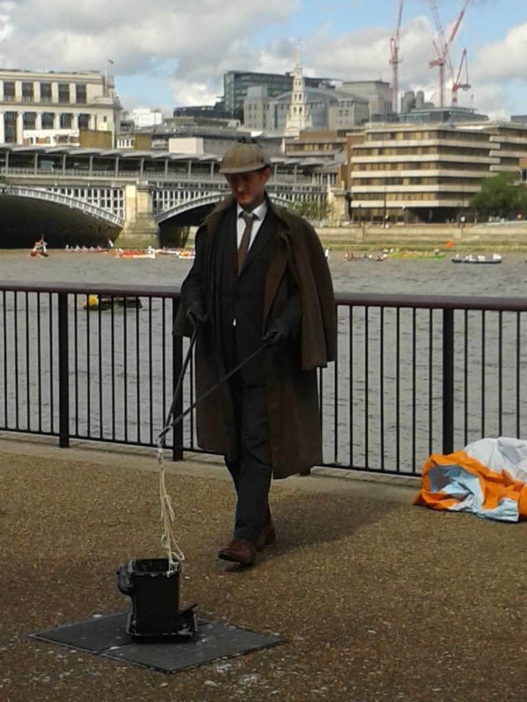 Street artist at South Bank, London