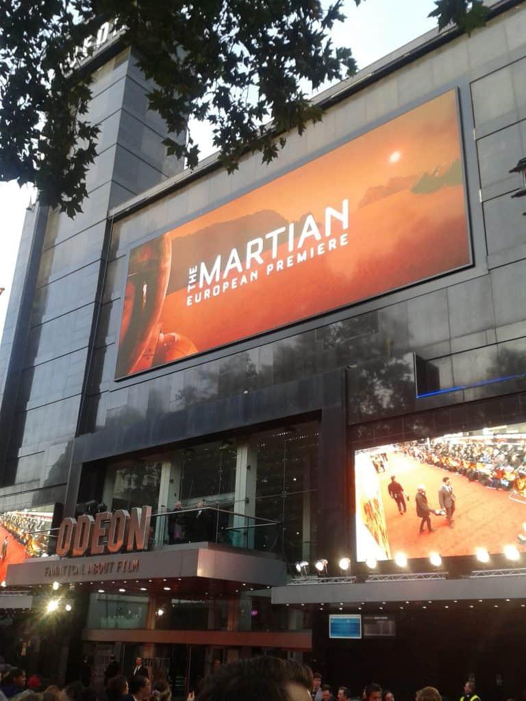 The Martian premiere London Odeon Cinema Leicester Square