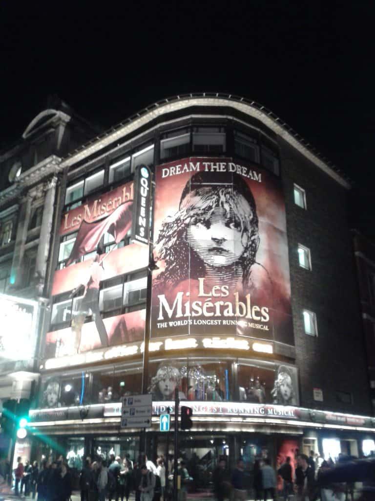 Les Miserables Theatre West End London