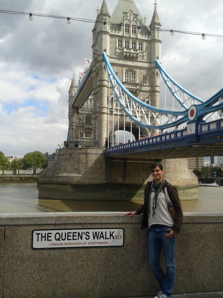 Queens Walk, South Bank, London, Tower Bridge View