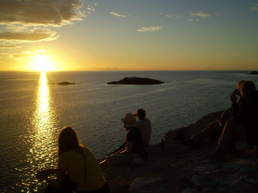 group tours Western Australia sunset