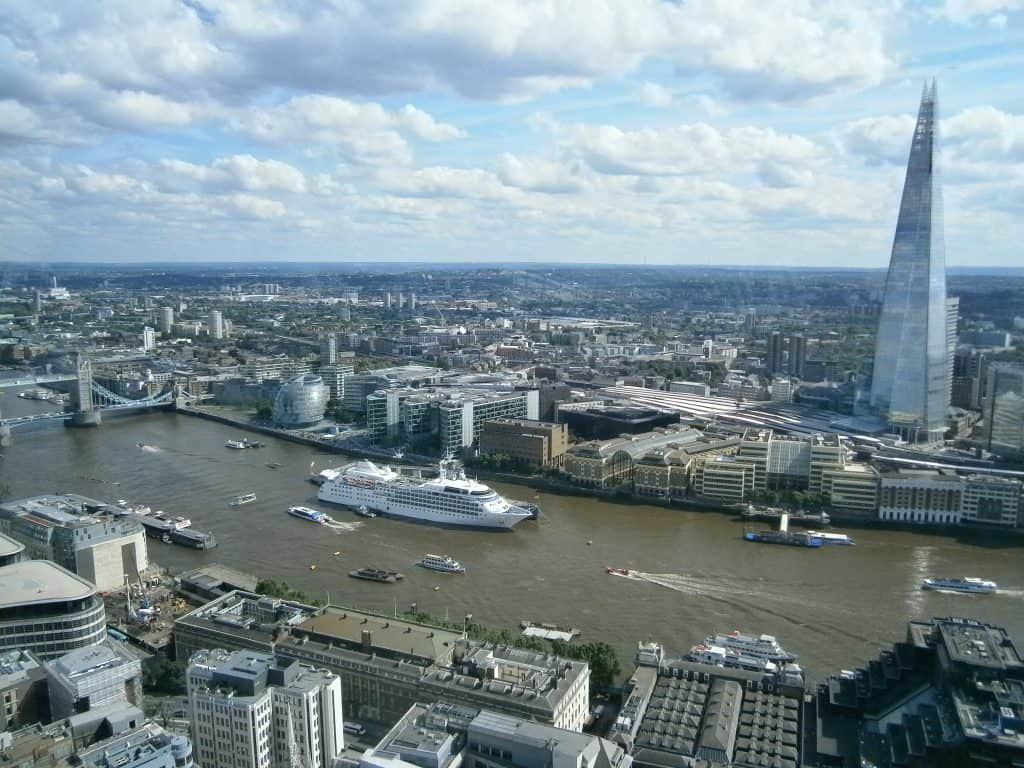View of the Shard from Sky Garden London