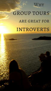 why goup tours are great for introverts pin