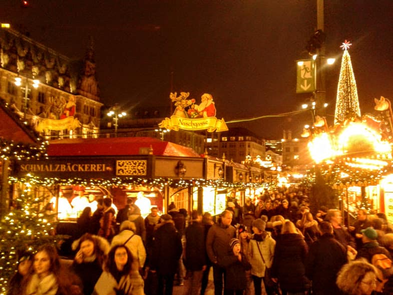 christmas markets in Hamburg - Rathausmarkt