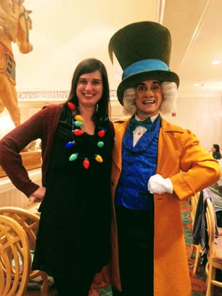 Character dining at my Disney birthday with the Mad Hatter