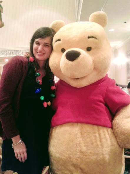 CHaracter dining at my Disney birthday with Winnie the Pooh