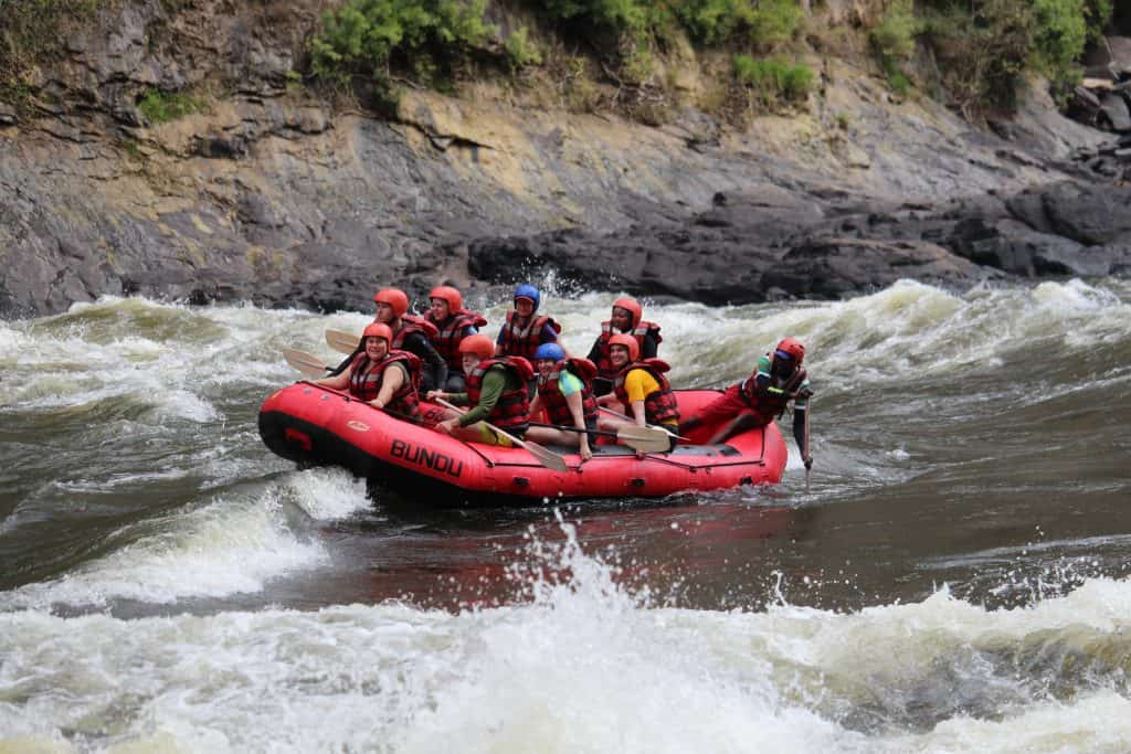 rafting the zambezi