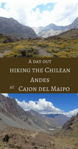 A day out hiking the Chilean Andes at Cajon del Maipo Pin