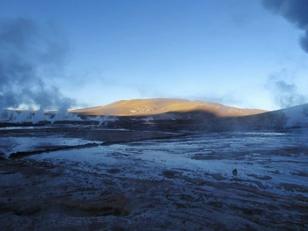 Ell Tatio Geysers at sunrise - Atacama