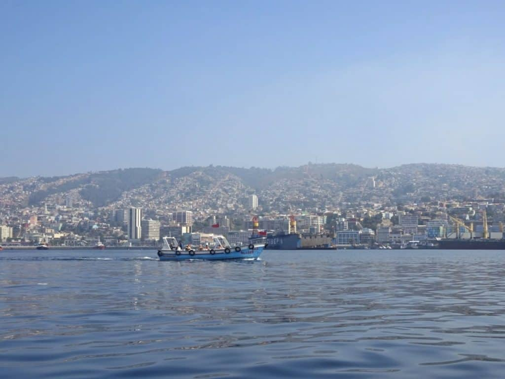 Valparaiso view from the water