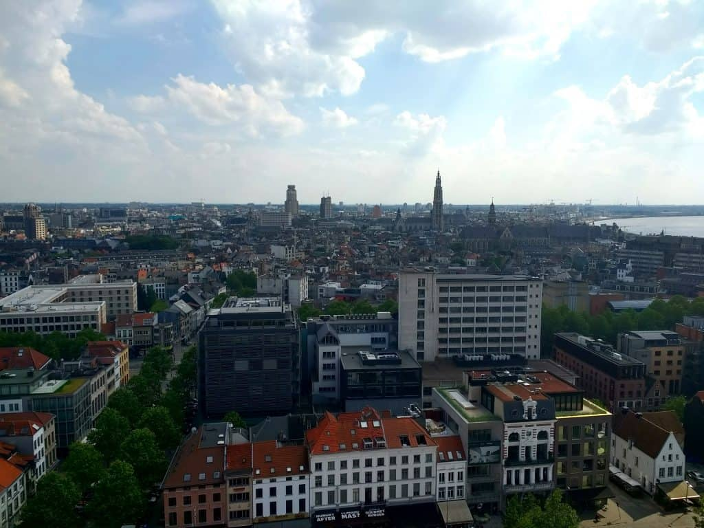 View over Antwerp from MAS Musuem