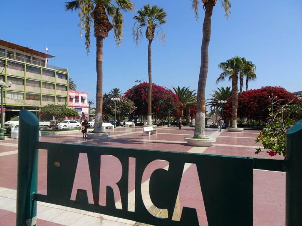 Arica street sign