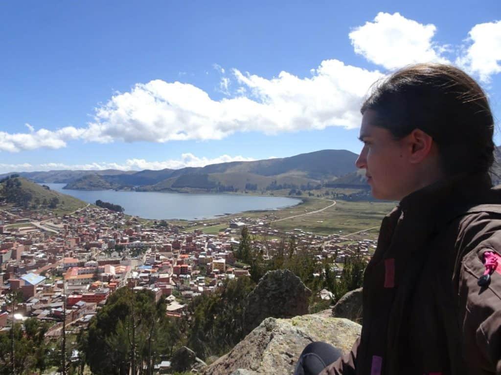 View of Copacabana and Titicaca Lake Bolivia