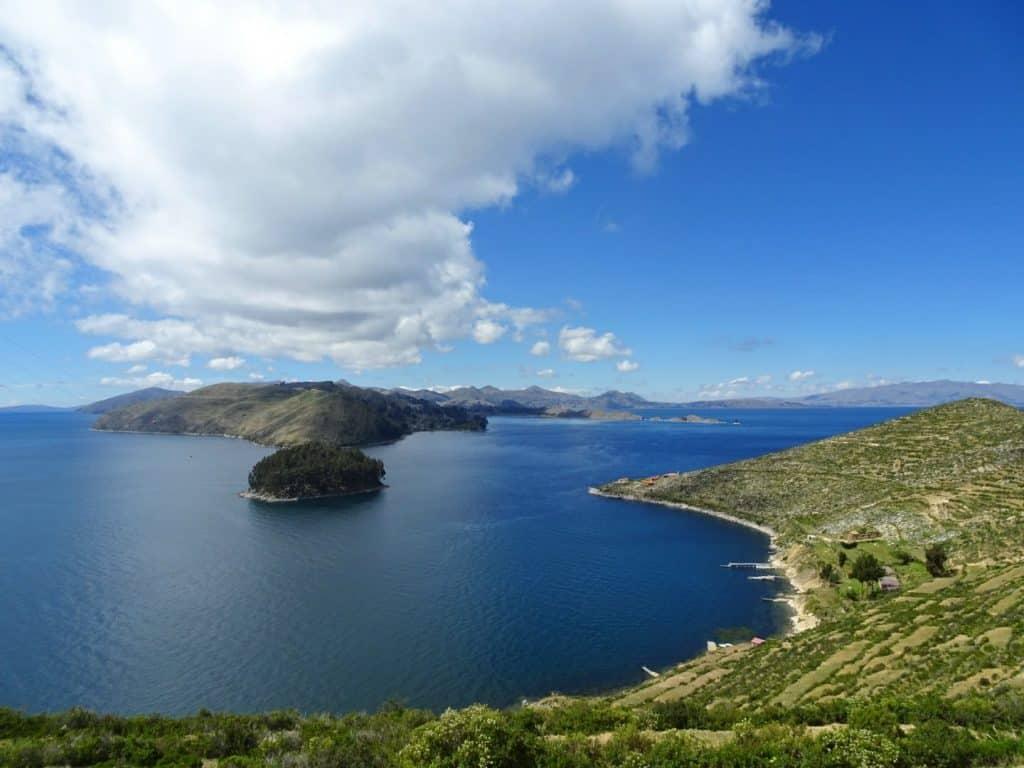 View of Titicaca Lake from Isla del Sol Bolivia