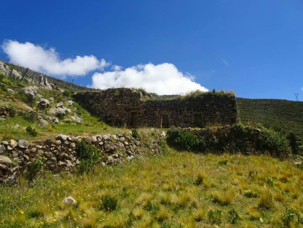 Inca Ruins on Isla del Sol Bolivia