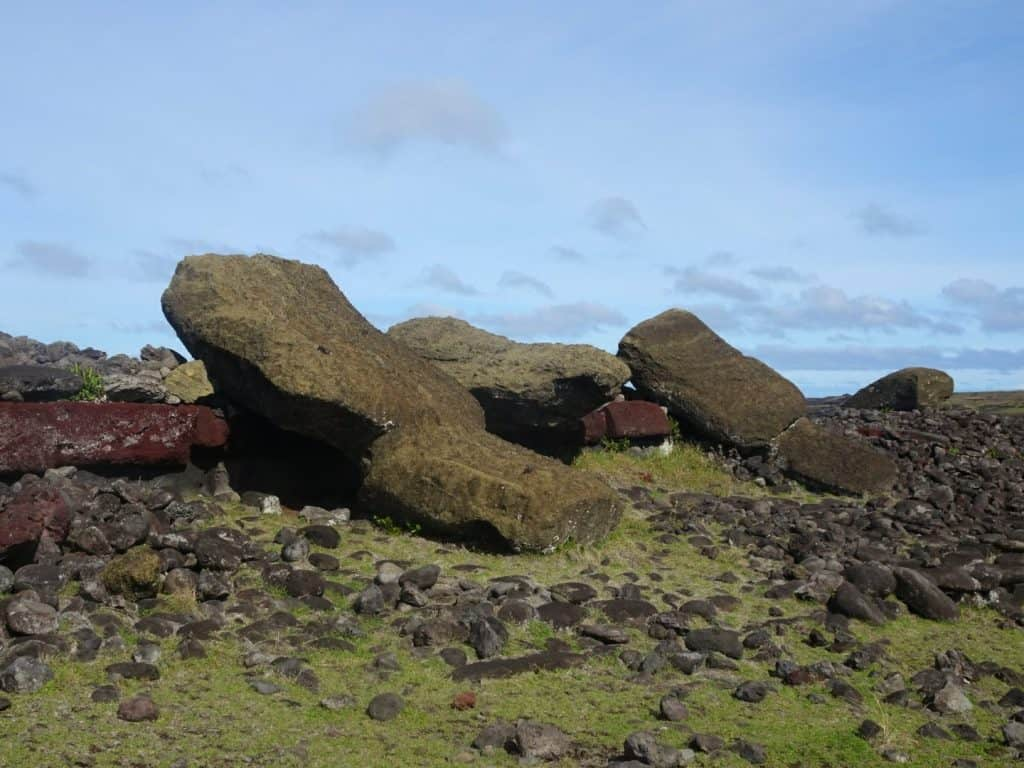 Fallen Moai Easter Island