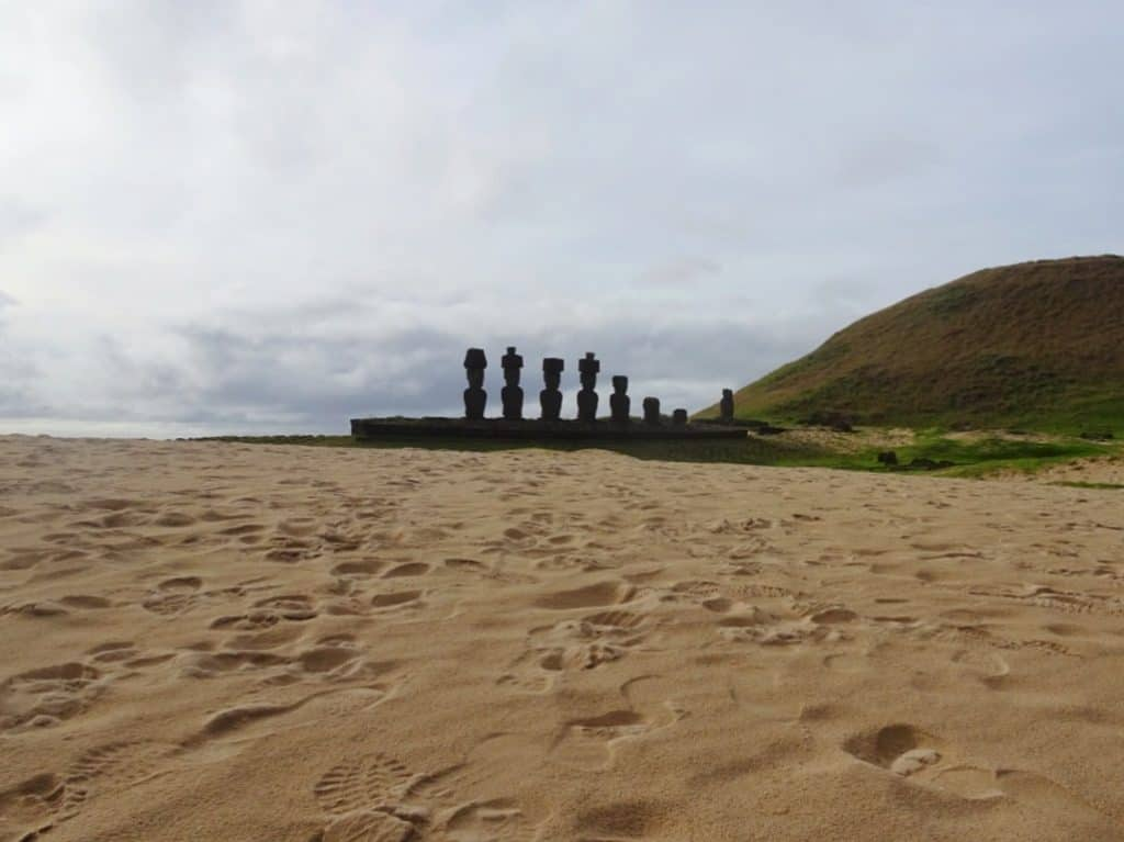 Moai at Anakena Beach Easter Island