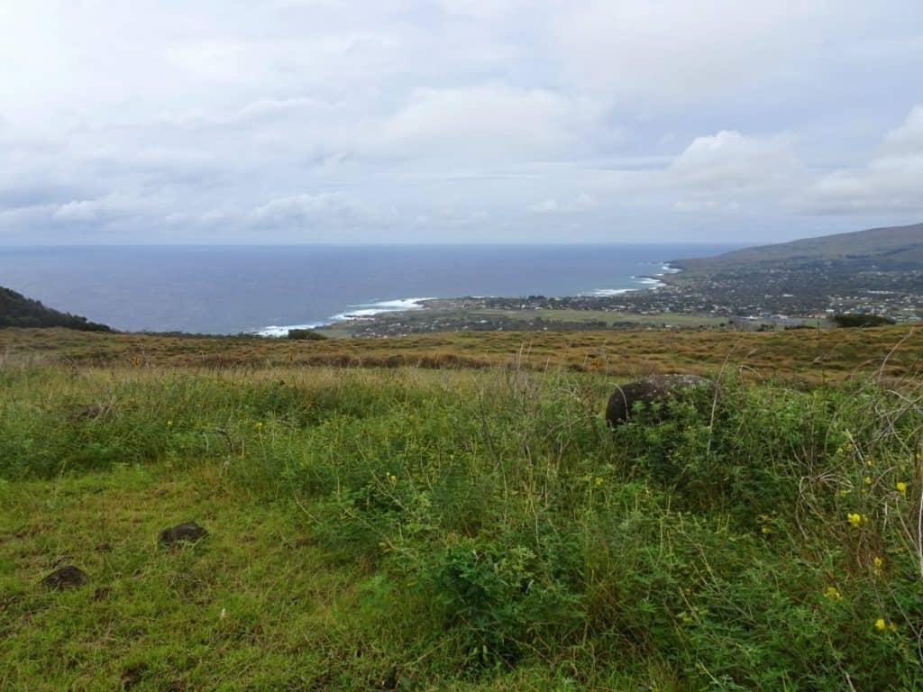 View over Hanga Roa - Easter Island
