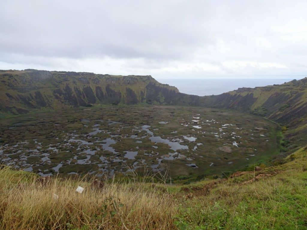 Rano Raku Crater Easter Island
