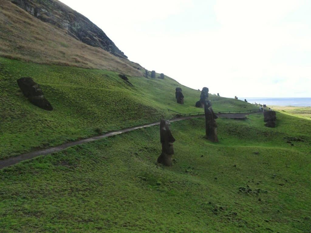 Moai at Rano Raraku Easter island