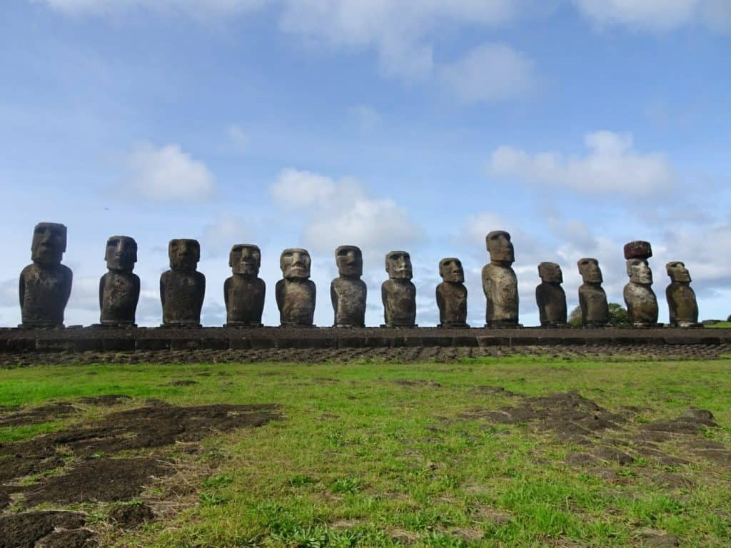 Moai at Tongariki Easter Island