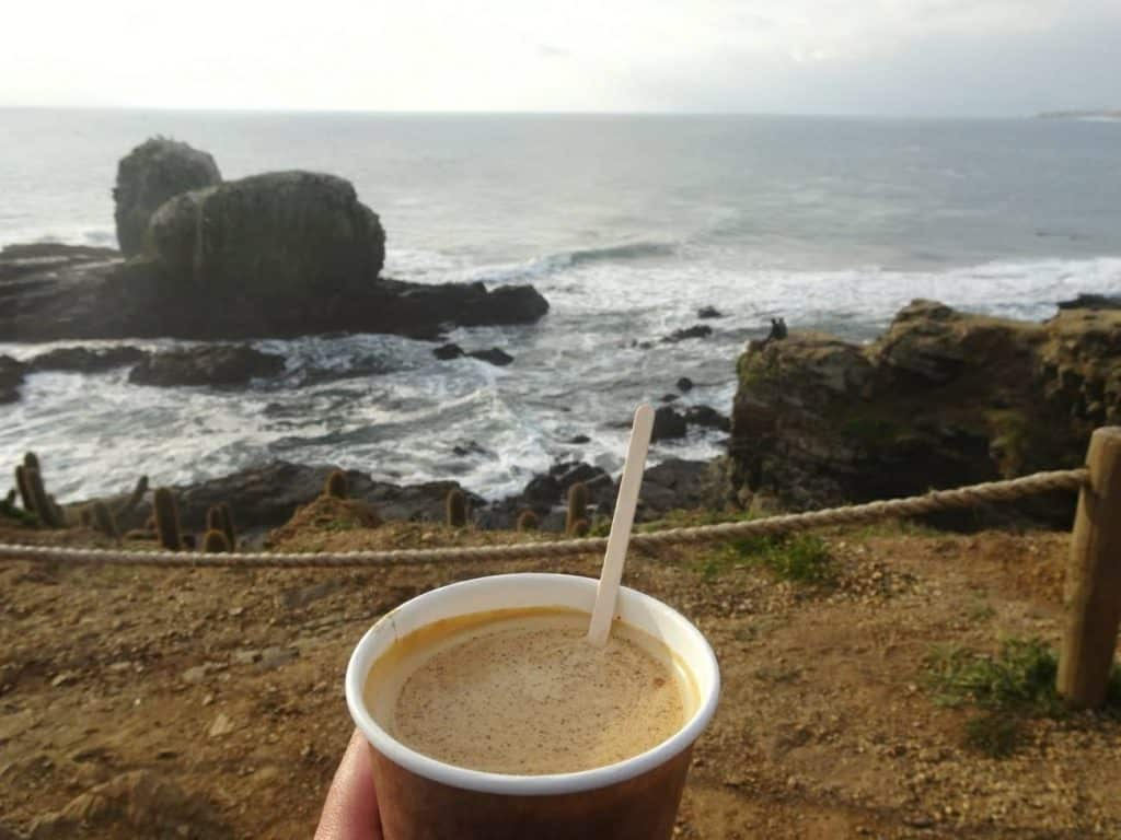 Pichilemu coffee outdoors