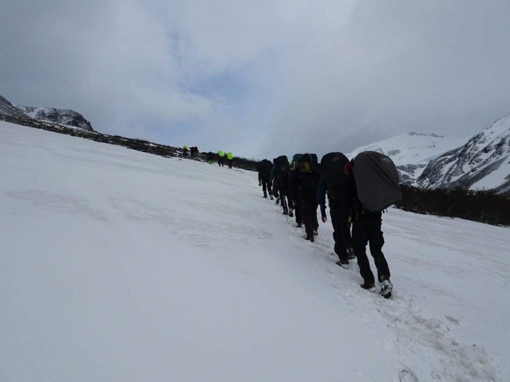 Hiking the John Gardner Pass in Torres del Paine, Chile