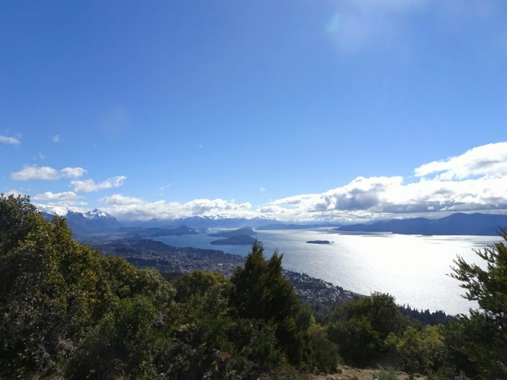 View of lakes around Bariloche Argentina