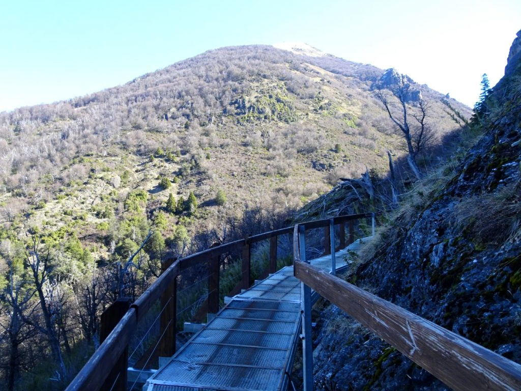 bridge in mountains Bariloche Argentina