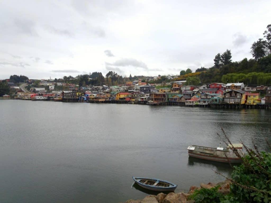 Palafitos Castro Chiloe island