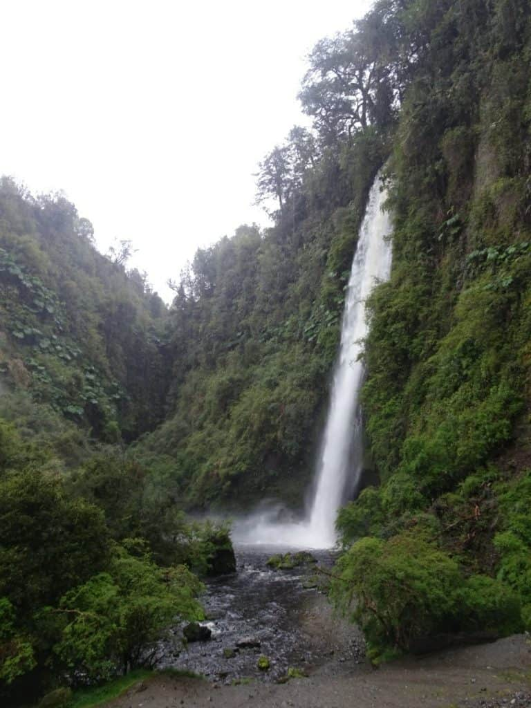 Toicuhue Waterfall Chiloe island
