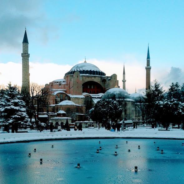 Blue Mosque Istanbul Turkey Winter