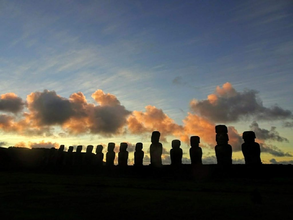 Sunrise Tongariki Moai Easter Island