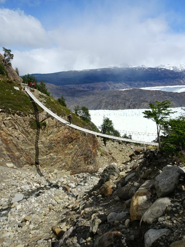 Torres del Paine Suspension Bridge Grey Glacier