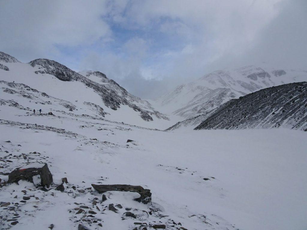 Torres del Paine Gardner Pass in snow