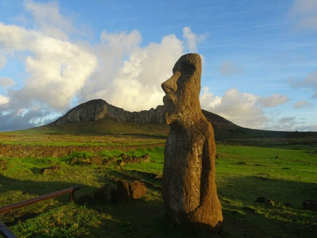 Sunrise at Tongariki, Moai, Easter Island, Chile