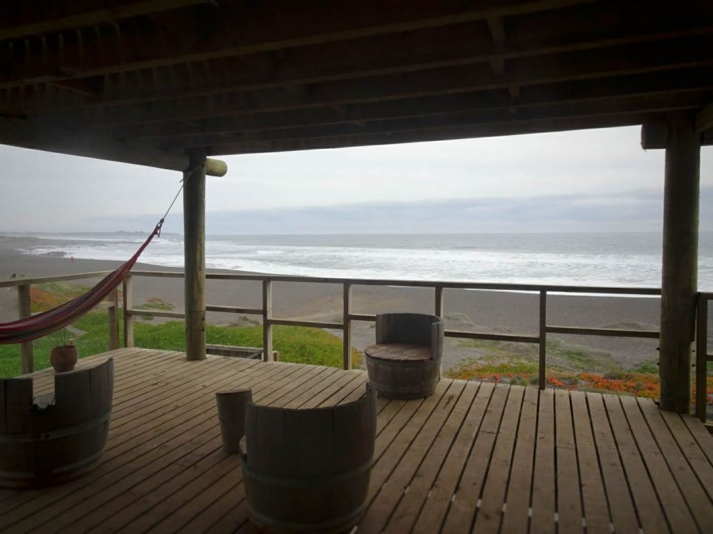 hostel veranda, Pichilemu, beach, Chile