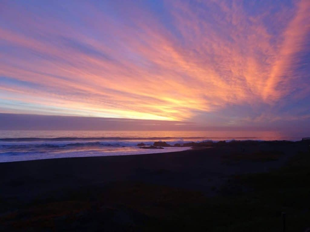 sunset, Pacific ocean, Pichilemu, Chile