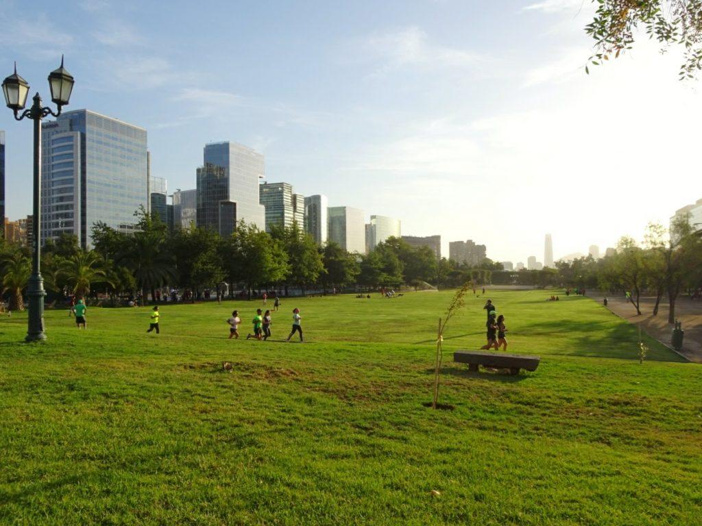Parque Araucano, Santiago de Chile - Loneliness when travellong solo