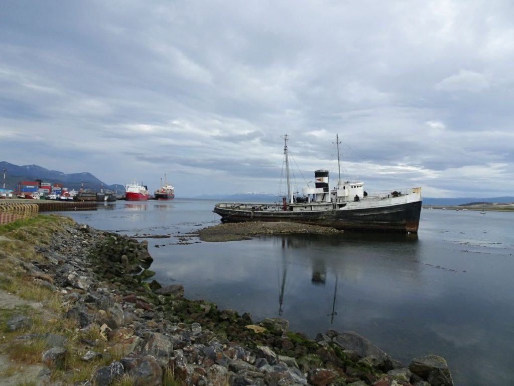 Ship in Ushuaia Harbour, Patagonia, Argentina